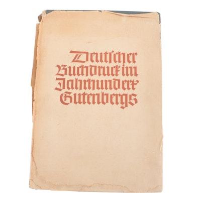 """German Language """"Deutscher Buchdruct im Jahrhundert Gutenbergs"""""""
