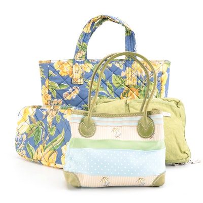 Laura Ashley Floral Tote and Pouch with J.McLaughlin and Baggallini Bags