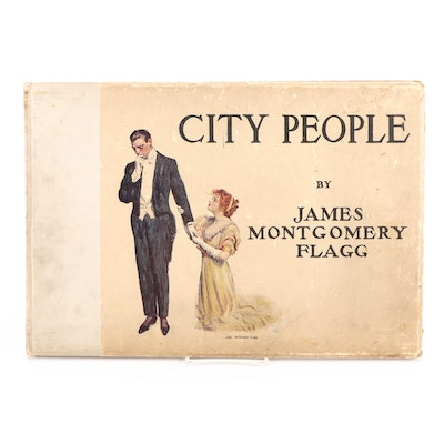 """Illustrated """"City People"""" by James Montgomery Flagg, 1909"""