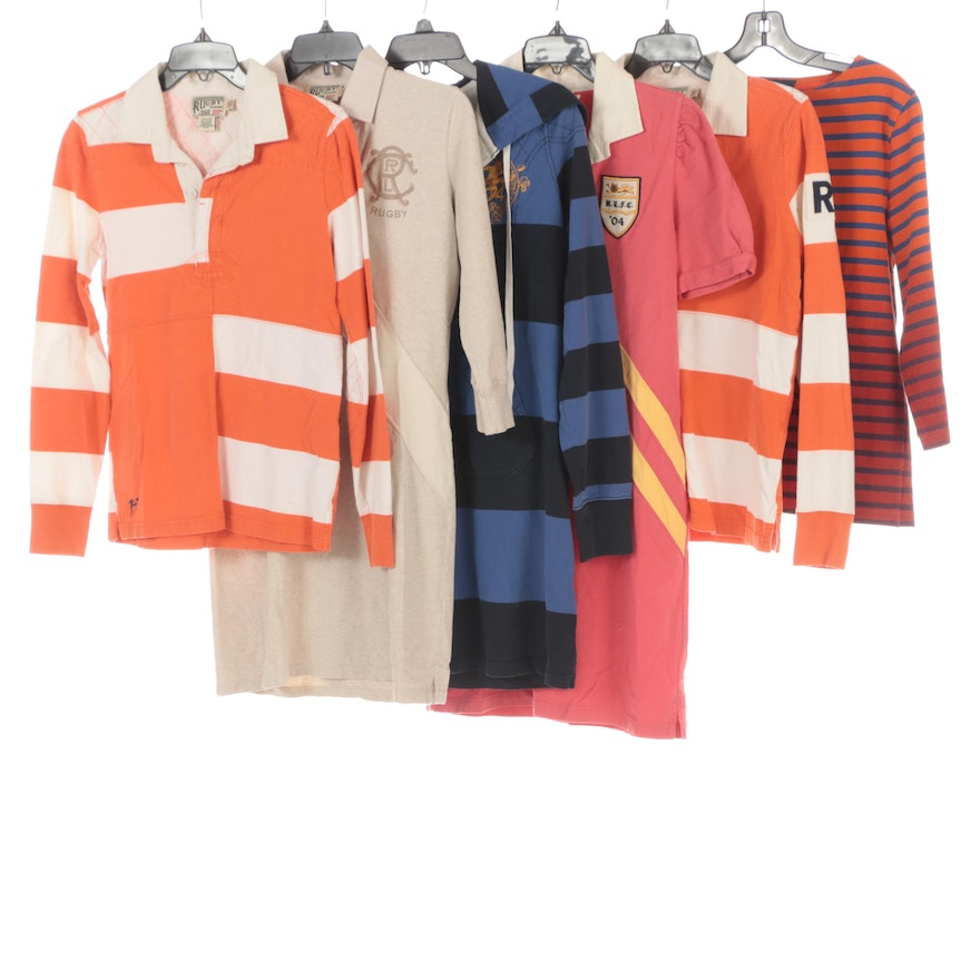 Rugby Ralph Lauren Polo Shirts and Dresses with Le Minor Striped Ombré Shirt