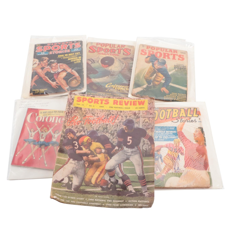 """""""Popular Sports"""" and More Football and Basketball Magazines, Mid-20th Century"""