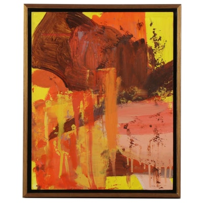 "Stacy Leeman Oil Painting ""Self Portrait P18,"" 21st Century"