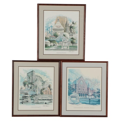 James Conner Offset Lithographs of Cincinnati, Late 20th Century