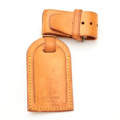 Louis Vuitton Poignet and Luggage Tag Set in Vachetta Leather