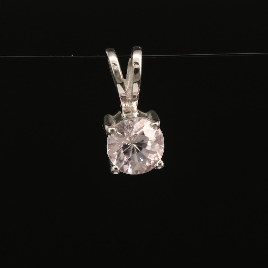 Sterling Topaz Solitaire Pendant