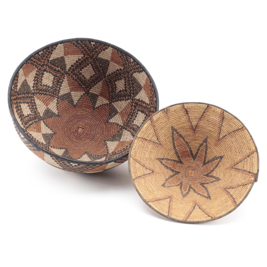 East African Hand-Woven Sweetgrass Basketry Bowls