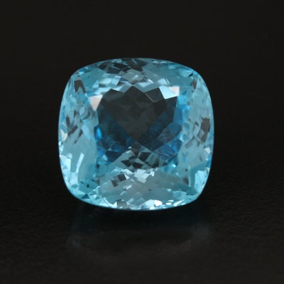 Loose 32.01 CT Cushion Faceted Topaz