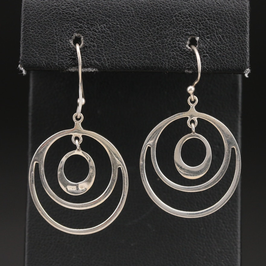 Sterling Concentric Earrings