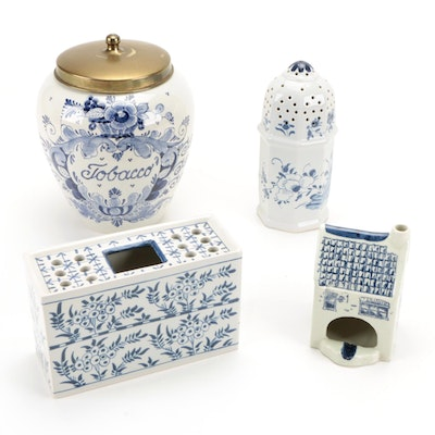 Pyramide, Blauw and Other Delft Pottery, 20th Century