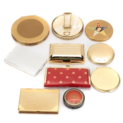 Wadworth, Elign and Other Makeup Compacts, Grooming Kits and Pocket Mirrors
