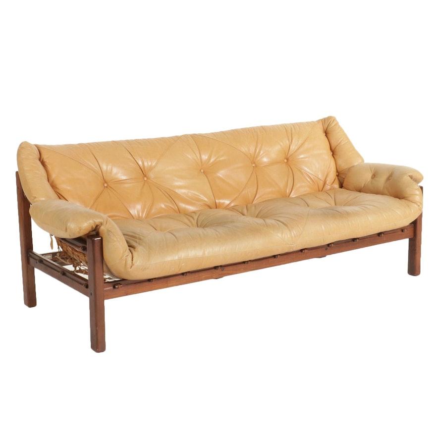 Jean Gillon for Italma Wood Art Mid Century Modern Jacaranda Sofa