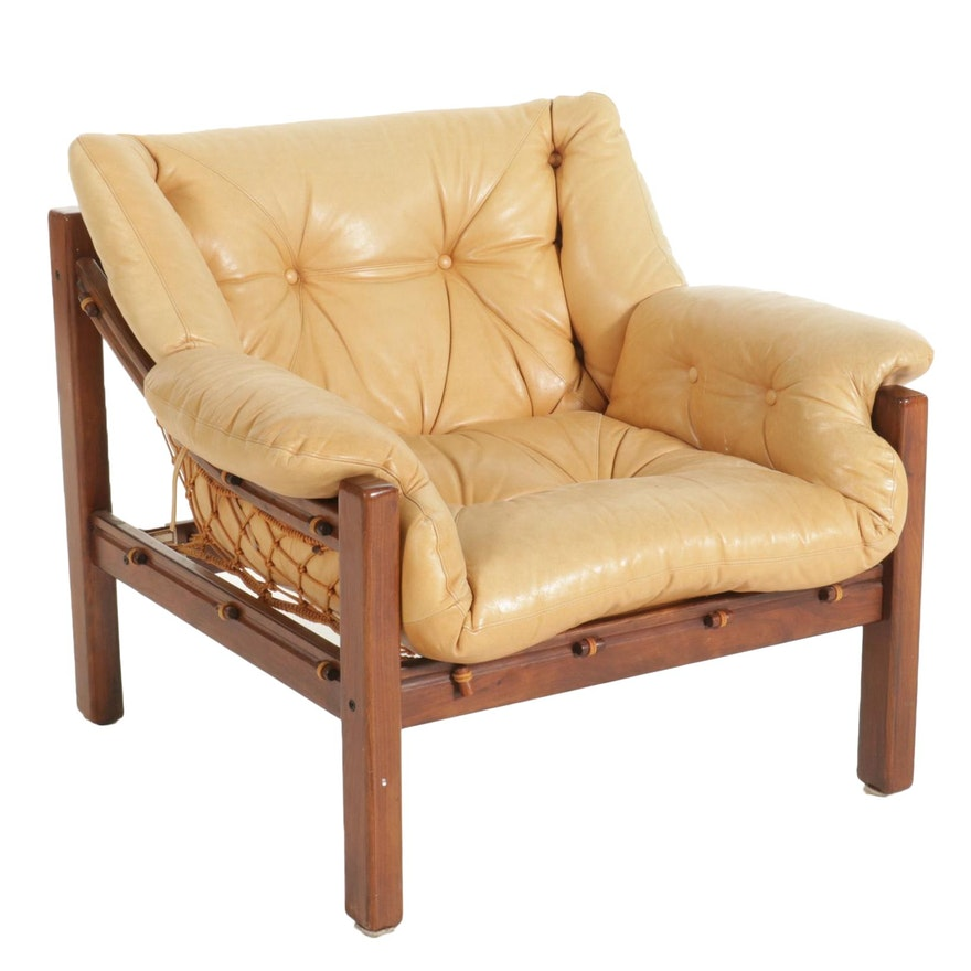 Jean Gillon for Italma Wood Art Mid Century Modern Jacaranda Wood Armchair
