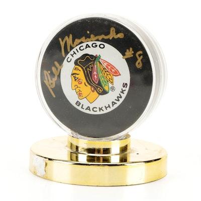 Bill Mosienko Signed Chicago Blackhawks NHL Hockey Puck, Visual COA
