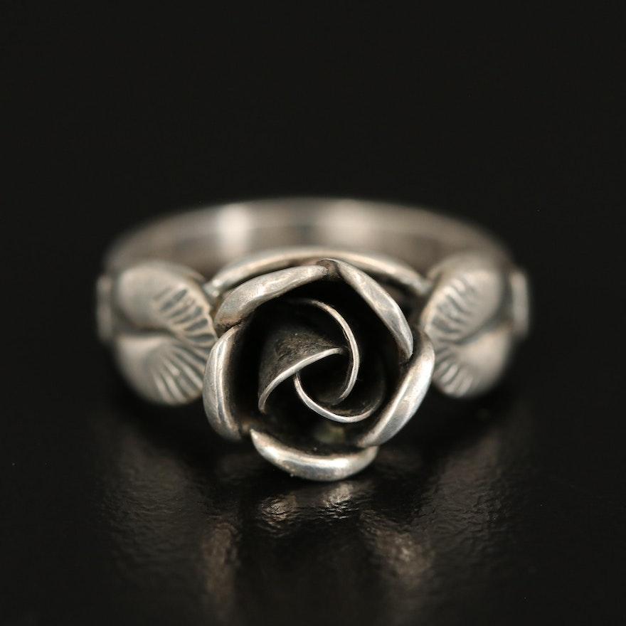 Sterling Rose Ring