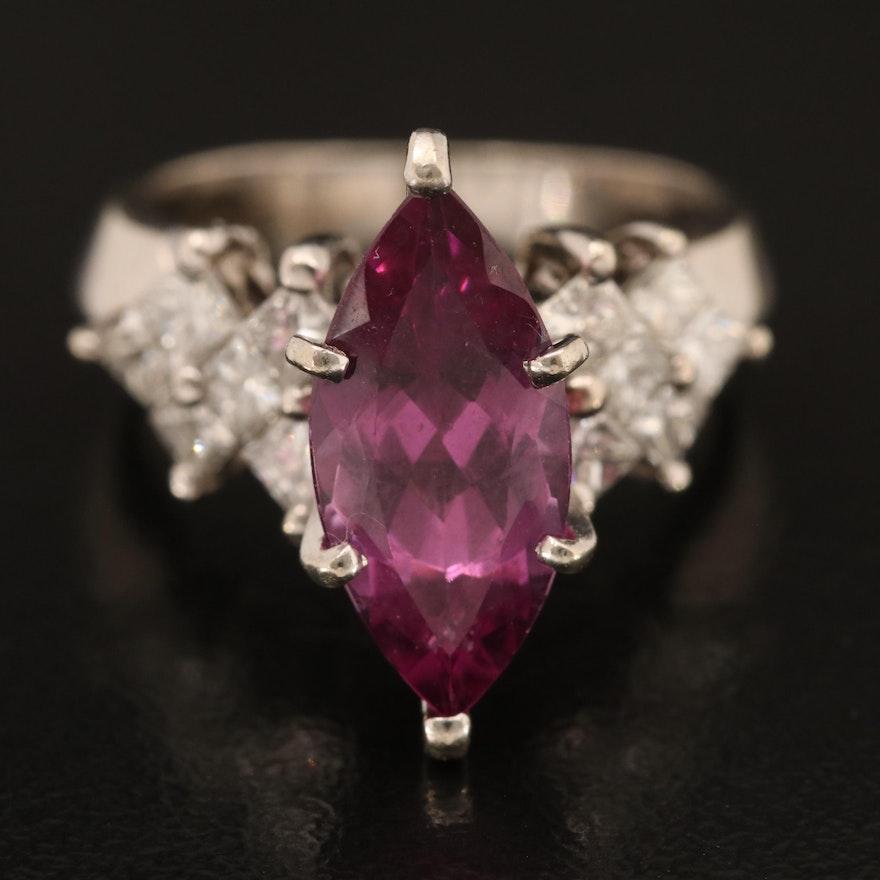 14K Rhodolite Garnet and Diamond Ring
