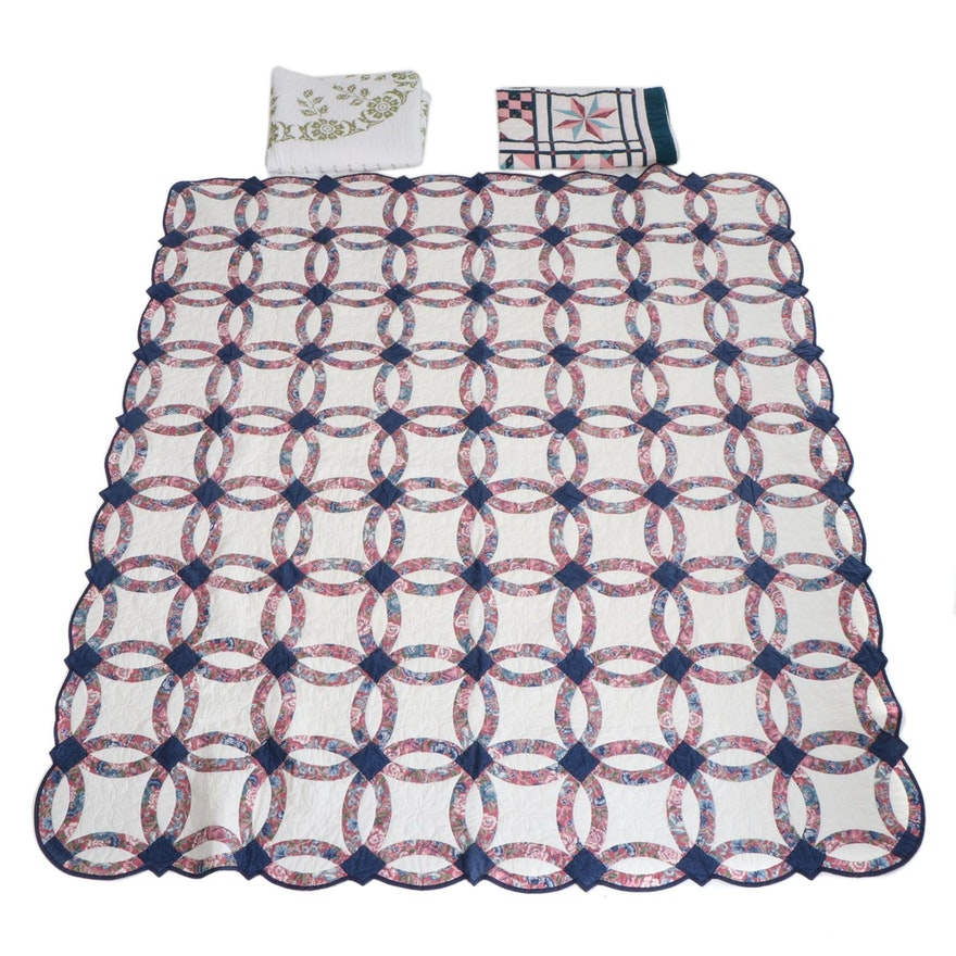 Keiko Kuehn Handmade Pieced Quilts and Cross-Stitch Coverlet