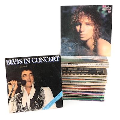 Elvis Presley, Barbra Streisand, John Denver, and More Record Albums