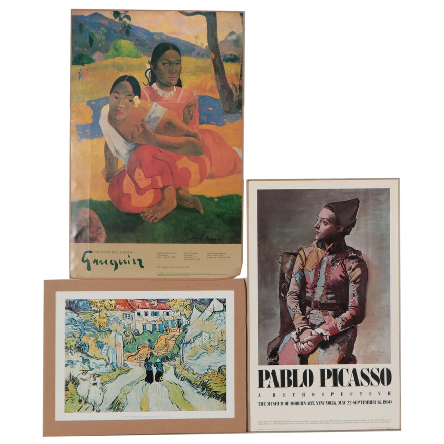 Offset Lithographs After Van Gogh, Gauguin, and Picasso