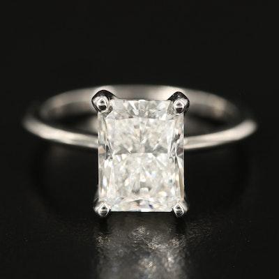 Platinum 3.11 CT Diamond Knife Edge Solitaire Ring