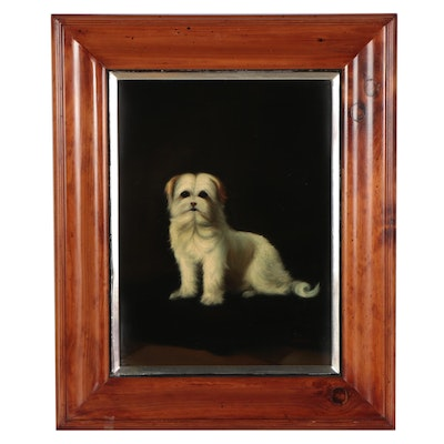 Oil Portrait of Dog, Late 20th Century