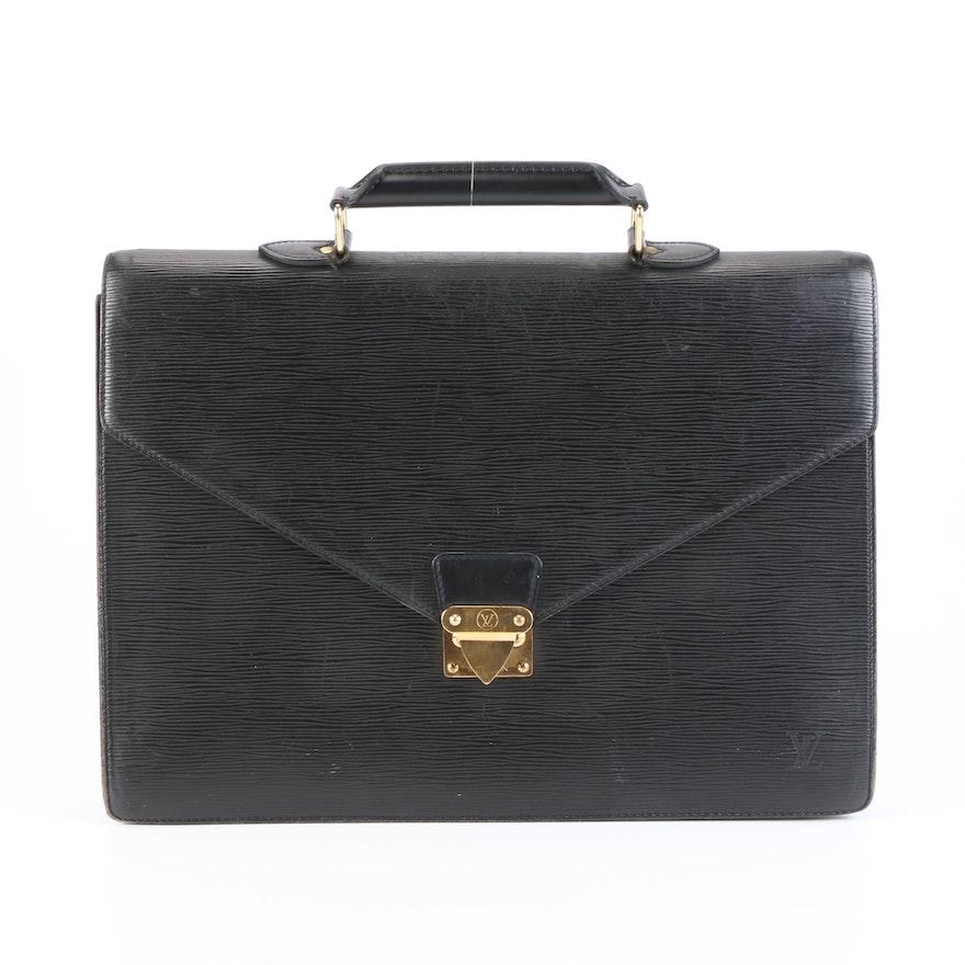 Louis Vuitton Serviette Ambassadeur Briefcase in Black Epi Leather