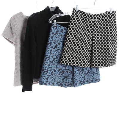 Lord & Taylor Cashmere Sweater, Boden Wool Skirts, and Leifsdottir Blouse