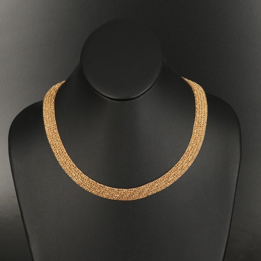 Italian 18K Woven Necklace