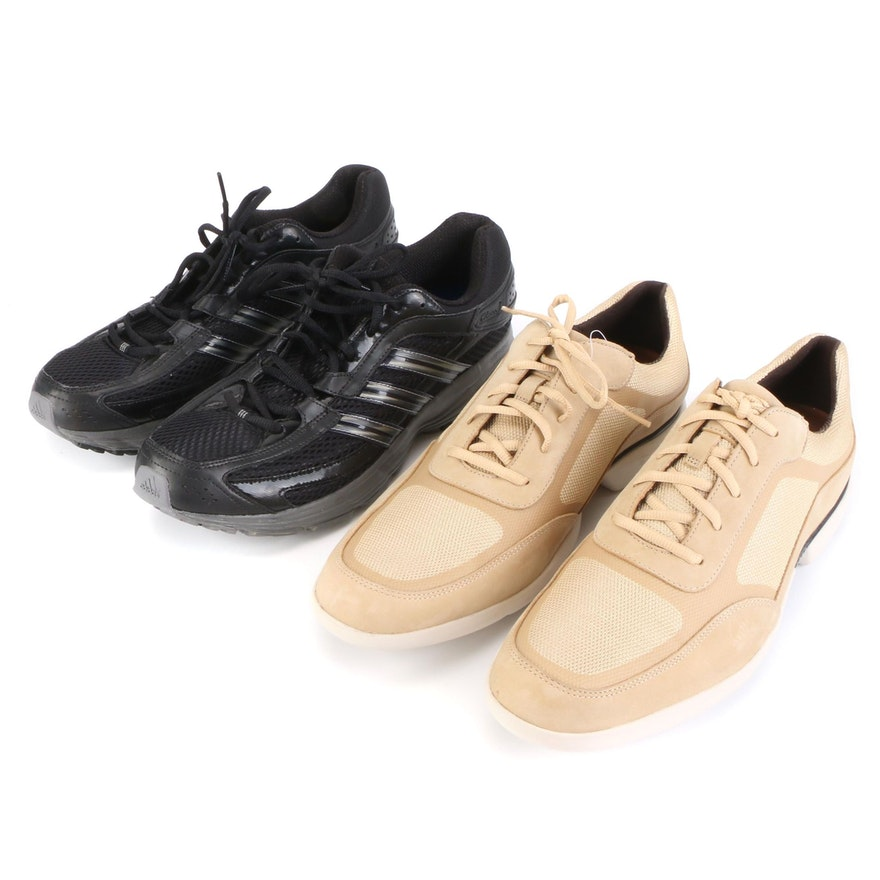 Men's Rockport Advance Sport Mesh and Adidas Falcon Sneakers with Boxes