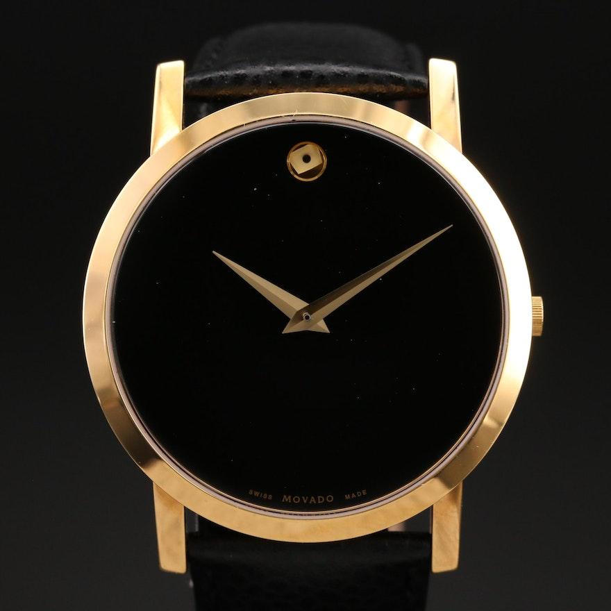 Movado Museum Gold Tone Quartz Wristwatch