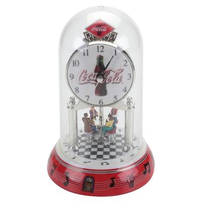 Coca-Cola Animated Diner Anniversary Pendulum Dome Clock, 2003