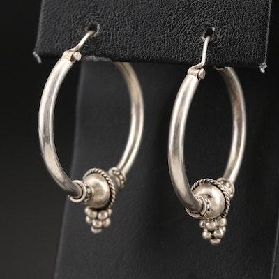 Thai Style 800 Silver Hoop Earrings