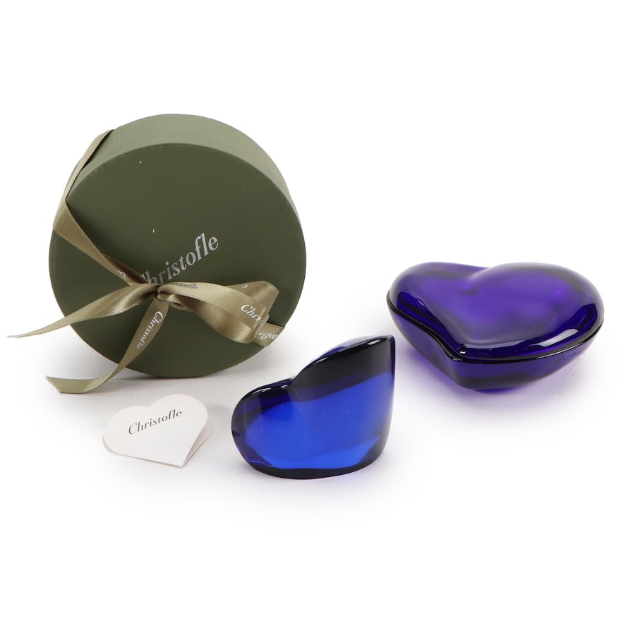 Elsa Peretti for Tiffany & Co. Cobalt Blue Heart Shaped Glass Box and More
