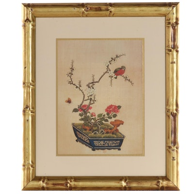 Offset Lithograph of Bonsai Tree, Late 20th Century