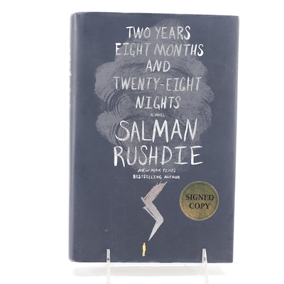 """Signed """"Two Years Eight Months and Twenty-Eight Nights"""" Salman Rushdie"""