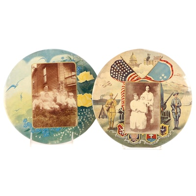 Chimney Covers Celluloid Family Photoprints, Victorian