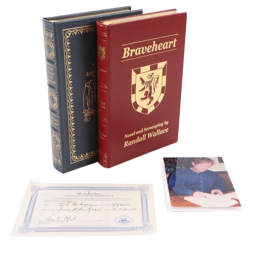 """Signed First Edition Thus """"Braveheart"""" by Randall Wallace and More"""