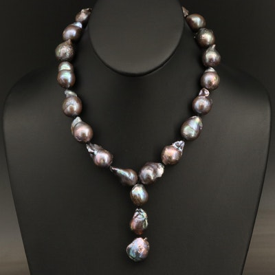 Soufflé Pearl Necklace with 14K Clasp