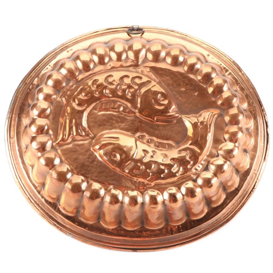 Swiss Copper-Clad Zodiac Pisces Cake Mold