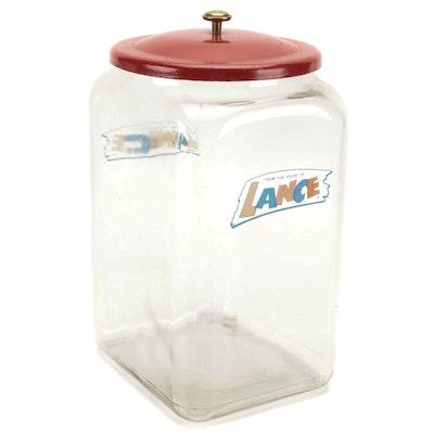 Lance Crackers Countertop Display Jar, 1970s
