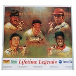 "Bench, Stargell, Gibson, Robinson, Yastrzemski Signed ""Lifetime Legends"" Poster"