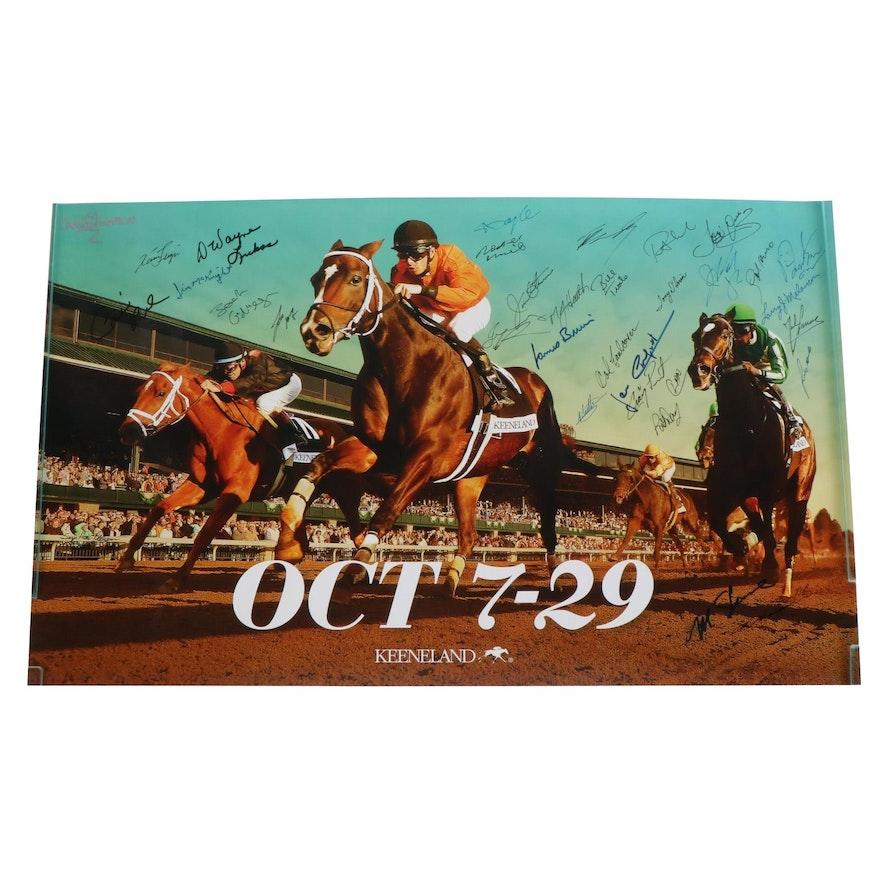 Keeneland Fall Meet Racing Signed Poster