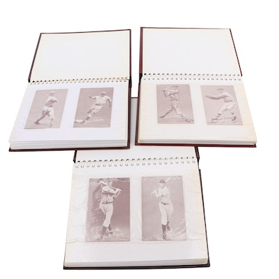 Joe DiMaggio, Jackie Robinson, and Others Baseball Exhibit Cards