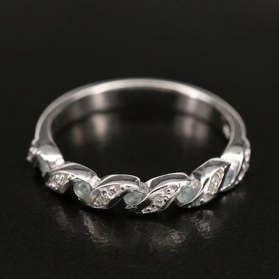 Sterling Alexandrite and Zircon Band