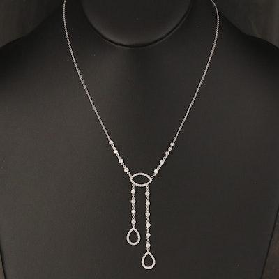 14K Diamond Négligée Necklace