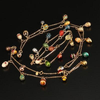 Joan Rivers Rhinestone Egg Charm Necklace