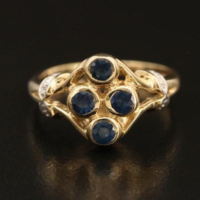 Sterling Sapphire Bezel Set Ring