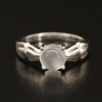 Sterling Cat's Eye Moonstone Ring