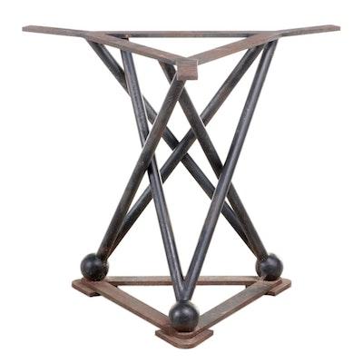 Industrial Black-Painted Steel Table Base