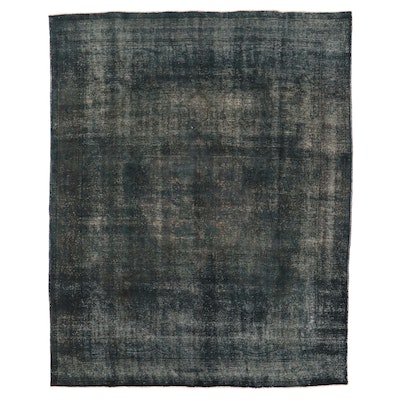 10'1 x 12'10 Hand-Knotted Persian Overdyed Room Sized Rug