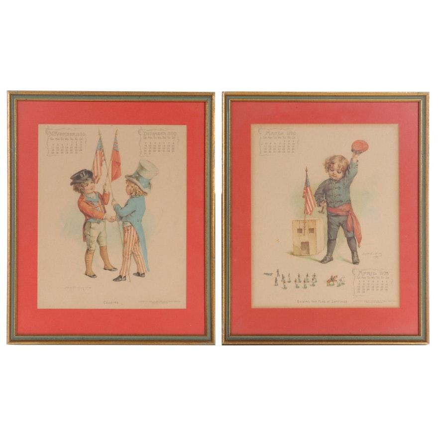 "Lithographs After Maud Humphrey Including ""Cousins,"" 1899"
